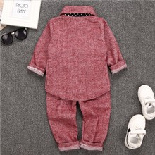 children gentleman design baby casual suit with european style long sleeve suit fashion boy clothing set