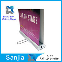 "Double Sided Roll Up Banner Stand (33"" W x 79"" H),Double Sided Roll Up Banner Stand for Store Display"