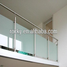 Rocky indoor tempered glass railing for sale