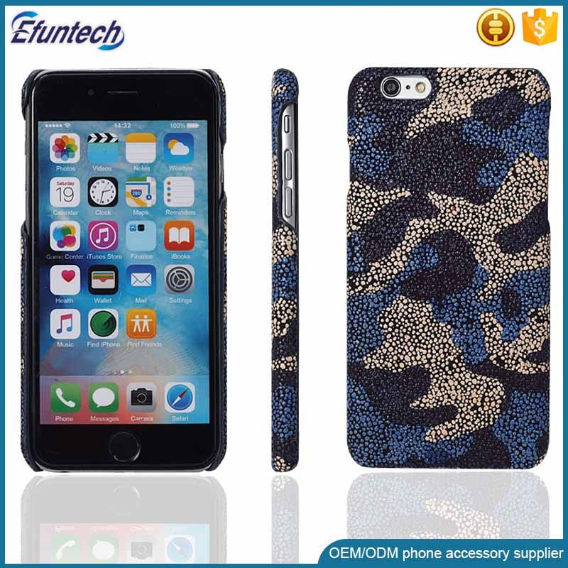 Mobile phone gadgets frosted PU leather phone back case for iphone 6s
