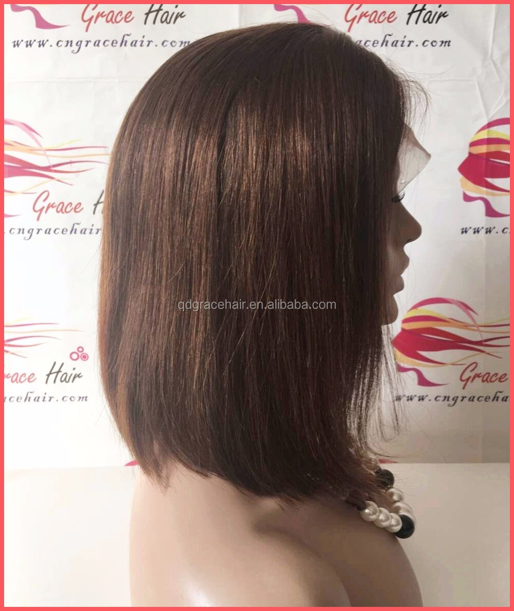 Hot sale !!! Short bob human hair lace front wig