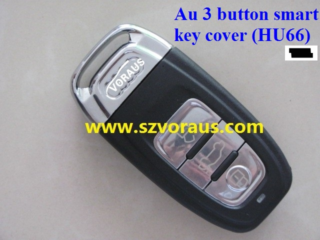 High quality Au 3 button smart key cover (HU66) with battery holder and emergency key