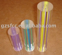 Clear Acrylic/PMMA/Plexiglass Rod/Bar with Colored Lines/Strips