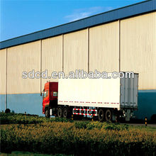 China Chinese heavy duty double axles box semi trailers and trucks for cargo transport