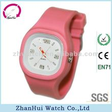 2012 all colors square hot sale new products good looking silicone band cheap jelly watch
