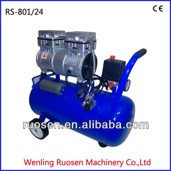 24l tanque horizontal 1hp compresor de aire sin aceite for Compresor de aire silencioso