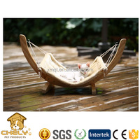 Wooden pet hammock, cat hammock bed, dog pet bed with soft comfortable cusion