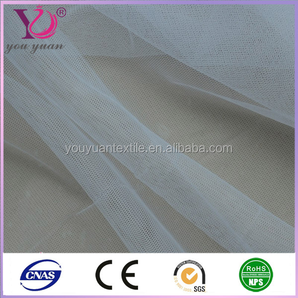 100 polyester tricot clear mesh fabric for clothes