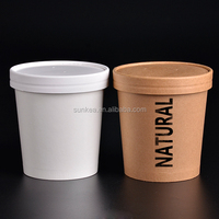 Multi color paper printed soup cups