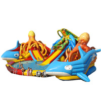 Underwater World Seaworld Octopus outdoor giant inflatable Water Park/ aqua park for kids and adults