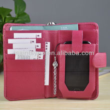 13034 Factory price pu leather cheap mobile phone case with snap closure