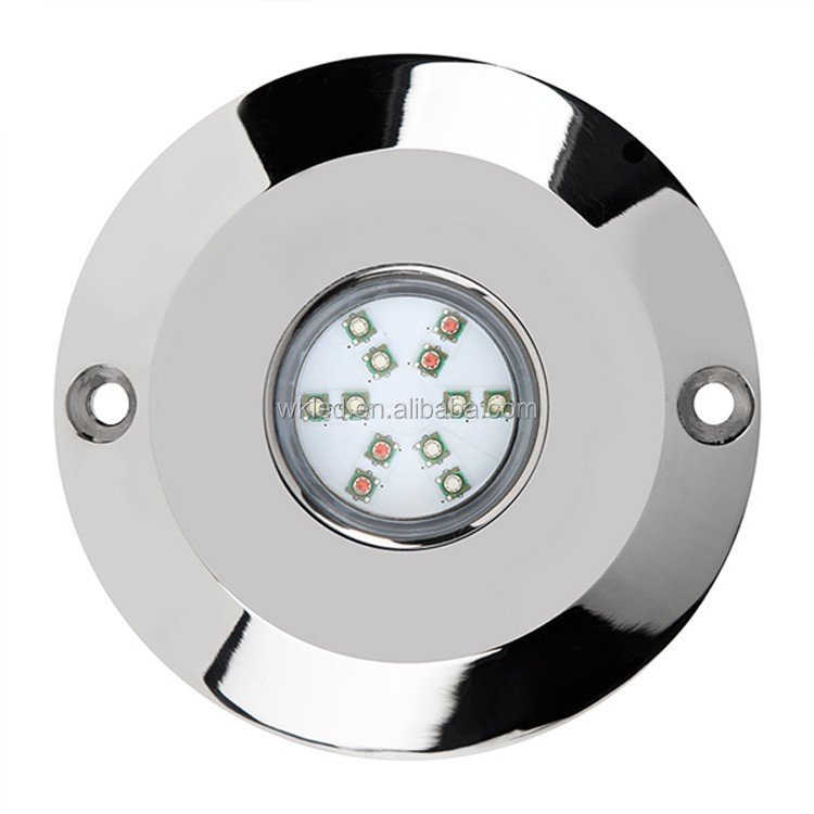 RGB led professional under water lighting stainless steel 60w underwater fishing light