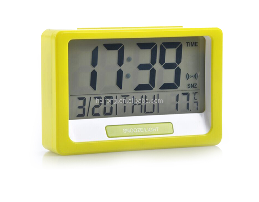 Hairong Electric large LCD digital clock, calendar clock, large desk clock