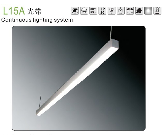 T5 fluorescent hanging light fixture for shopping malls