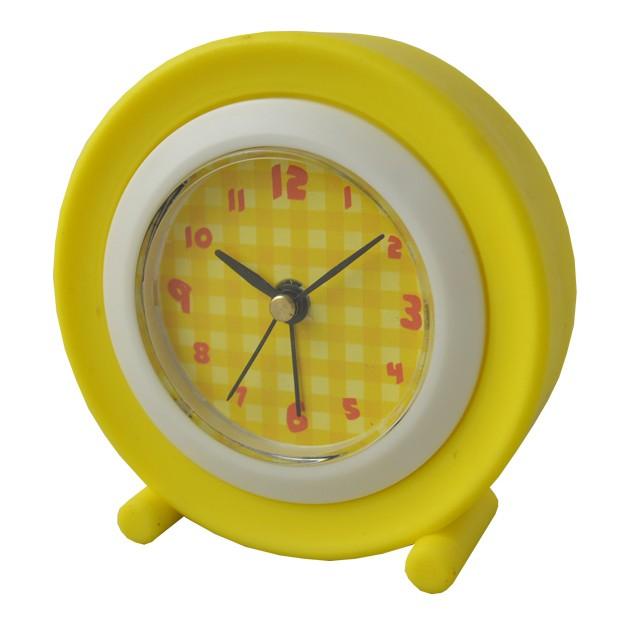 plastic square portable table alarm travel clock