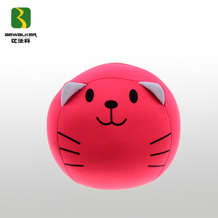 Red Filling Micro Beads Cat Toy Ball