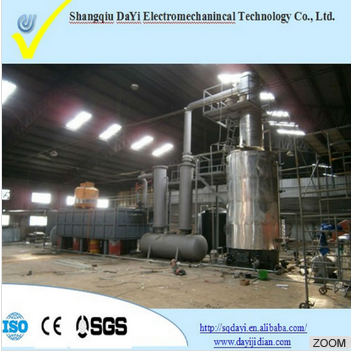 DAYI Continous feeding system.85%-95% oil yield Used waste engine oil/pyrolysis oil recycle plant for sale with CE