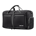 Foldable Travel Duffel Bag Outdoor Travel Bag With black and Blue