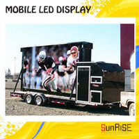 Waterproof cabinet high brightness Truck Mounted Led Display With Silence Generator And Hydraulic Scissors Lifting Platform&amp