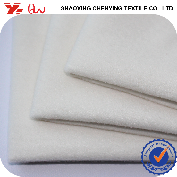 polyester roll packing white color tops for woman 2016 new 100% polyester plush fabric