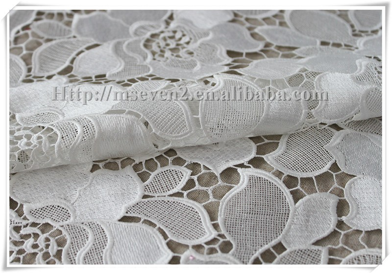 New Arrival wedding fabric terylene embroidery bridal laces fabrics