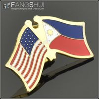 2014 gold plate country flag pin/new product country flags lapel pins