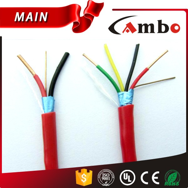 High Performance 16AWG 18AWG Fire System Use 2 Cores 4 Cores Shielded Fire Alarm Cable