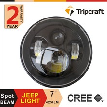 2016 factory direct 7 inch round hi/lo beam led headlight for off road J EEP newest led work light