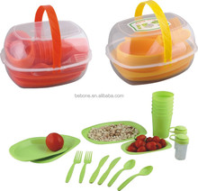 food safe outdoor western colorful plastic kids picnic dinnerware sets