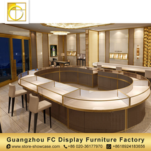 modern furniture luxury led lighted display furniture display kiosk jewellery shop counter design