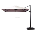 outdoor furniture luxury beach umbrella square garden parasol 3*3m with water-filled base