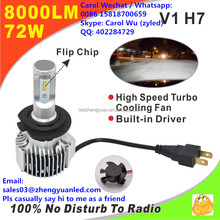 Brilliant ZY V1 pk 6S L6 G20 L5 bi led projector lens xenon kit fog light 4000 lumen led headlight 8000lm hid led h4 h7 bulb