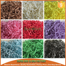 recycled purple crinkle shred paper
