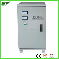 CE ROHS approved 30KVA vertical style full-auto 220v/110v svc voltage regulator/stabilizer