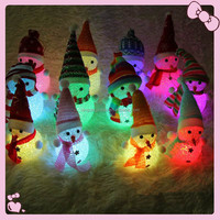 LED Light Up Glowing Snowman Xmas Tree Decoration Christmas Pendant Gifts Ornaments Christmas Party Decoration
