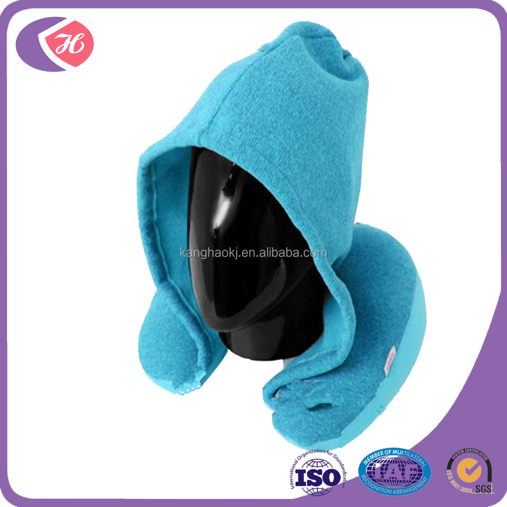 hoody memory foam travel neck pillow machine washable