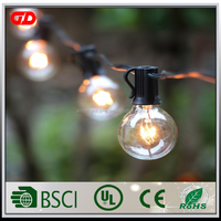 110V Voltage G40 Edsion E12 String Globe Lights For Outdoor Garden Use