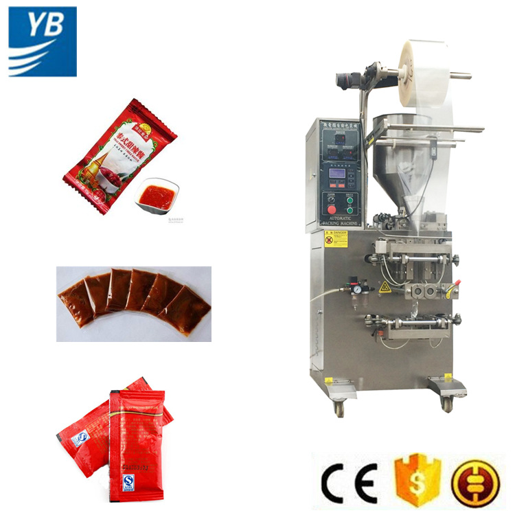 CE approved ketchup/olive oil/curry paste packaging machine for sale