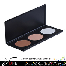 3 color lady facial makeup face powder palette,whitening make up palette