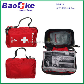 Well organized sports car personal medical safety kit advertising gift emergency nylon bag