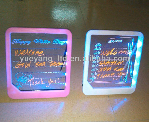small led transparent writing board