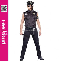 2014 newest hot sale fashion design sexy man police costume