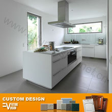 Modern high golss white european kitchen model simple design