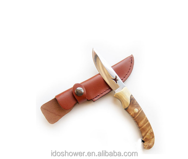wholesale steel wool fishing knife bowie knife with SS blade