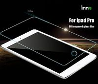 Newest LINNO 0.33mm 2.5D anti shock Anti fingerprint tempered glass screen protector for ipad pro
