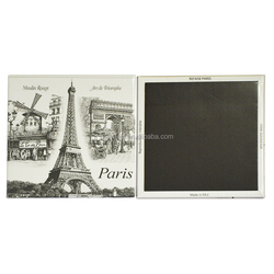 2016 promotion Paris gifts custom tin fridge magnet