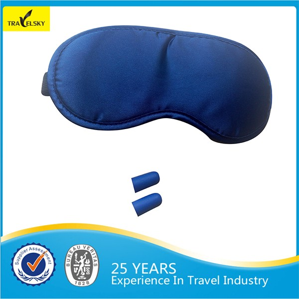 Travel Comfortable Foam Covered Private Label 3d Sleeping Eye Mask