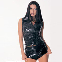 Girls Adult Clue Dance Cliuewear Sexy Fetish Bodysuit Romper Teddy Bondage Leather Lingerie