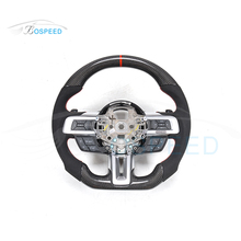 Wrapped Carbon Fiber Steering Wheel racing car wheel For Mustang