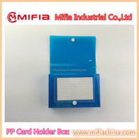 Custom small size plastic pp poly holder box for index cards